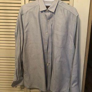 Johnston & Murphy Mens L/S Shirt XL-Blues/White.